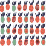 Pineapples seamless abstract fruits patten. It is located in swatch menu, vector image stock illustration
