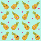 Pineapples seamless pattern Royalty Free Stock Photos
