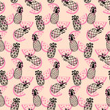 Pineapples seamless pattern Stock Image