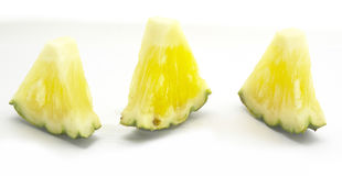 Pineapples Thai fruit Isolated on White background. Isolated-background Royalty Free Stock Photo