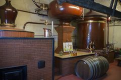 Pineau distillery at Le Maine Giraud Manor ,Champagne-Vigny,Poitou-Charentes,France.