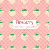Pineberry naadloos patroon Royalty-vrije Stock Afbeelding