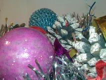 Pinecone διακοσμήσεων Χριστουγέννων στοκ εικόνες