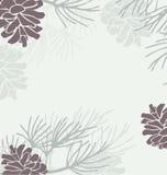 pinecone граници иллюстрация вектора