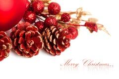 Pinecone de la Navidad Imagen de archivo libre de regalías