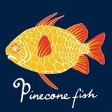Pinecone fish Royalty Free Stock Photos