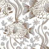 Pinecone fish pattern Stock Photos