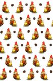 Pinecone snowman wallpaper. Royalty Free Stock Images