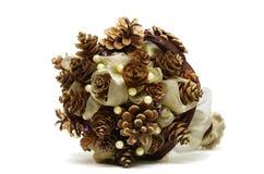 Pinecone winter wedding alternative bouquet Stock Photo