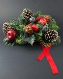 Pinecone-Weihnachten Lizenzfreies Stockbild