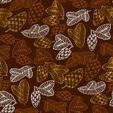 Pinecones koloru bezszwowy wzór royalty ilustracja