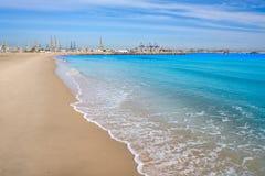 Pinedo beach in Valencia Spain Mediterranean Royalty Free Stock Images