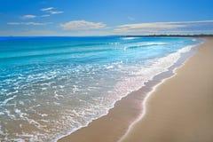Pinedo beach in Valencia Spain Mediterranean Stock Photos