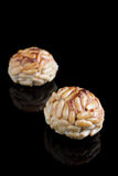 Pinenut panellets. Catalan cuisine Stock Photography