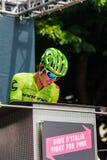Pinerolo, Италия 27-ое мая 2016; Rigoberto Uran, команда Cannondale, к подписям подиума перед началом трудного sta горы Стоковые Изображения RF
