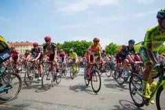 Pinerolo, Itália 27 de maio de 2016; Começo da fase da excursão de Itália do interior do grupo, Imagem de Stock Royalty Free