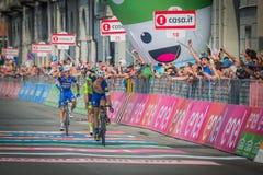 Pinerolo, Italien am 26. Mai 2016; Matteo Trentin gewann das Stadium des Autogiros D'Italia 2016 von MuggiÃ-² zu Pinerolo Stockfotografie