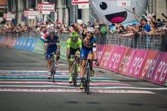 Pinerolo Italien Maj 26, 2016; Matteo Trentin segrade etappen av Postgirot D'Italia 2016 från Muggià ² till Pinerolo Arkivbilder