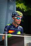 Pinerolo, Italy May 27, 2016; Alejandro Valverde, Movistar Team, to the podium signatures before the start of  the Stage Stock Photos