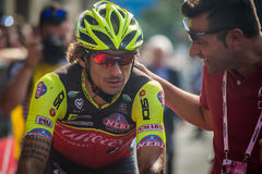 Pinerolo, Italy May 26, 2016; Filippo Pozzato after the finish of the Stage Royalty Free Stock Image