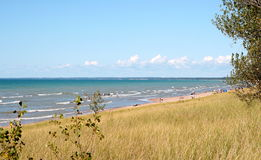 The Pinery provincial park with the lake Huron Royalty Free Stock Photo