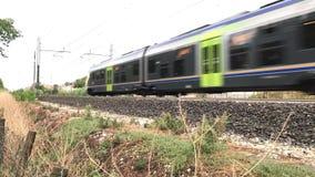 05 09 2018 Pineto, Abruzzo - τοπικό τραίνο για τους κατόχους διαρκούς εισιτήριου απόθεμα βίντεο