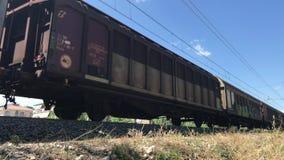 05 09 2018 Pineto, Abruzzo - φορτηγό τρένο φιλμ μικρού μήκους