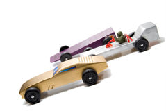 Pinewood Derby. Wooden cars of the type typically used for the Pinewood Derby Stock Photography