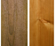 Pinewood timber, new and weathered Royalty Free Stock Photography