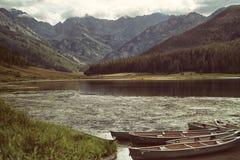 Piney sjö i Colorado Arkivfoton