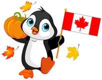 Pingüino canadiense del día de la acción de gracias libre illustration