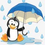 Pingüino con el paraguas libre illustration