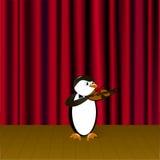 Pingüino con el violín Imagen de archivo libre de regalías