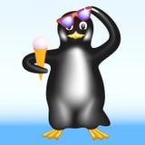 Pingüino con helado Fotos de archivo