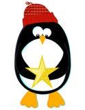Pingüino con la estrella ilustración del vector