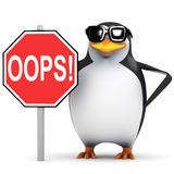 pingüino 3d con Fotos de archivo