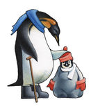 Pingüino de emperador Fotografía de archivo libre de regalías