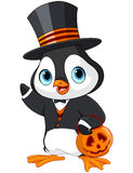 Pingüino de Halloween Imagen de archivo libre de regalías