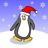 Pingüino de la Navidad ilustración del vector