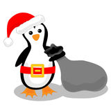 Pingüino de Santa stock de ilustración