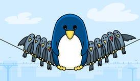 Pingüino del alambre ilustración del vector