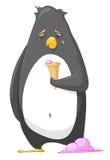 Pingüino del personaje de dibujos animados Imagen de archivo libre de regalías