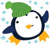Pingüino divertido de la Navidad Imágenes de archivo libres de regalías