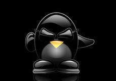 Pingüino elegante en vidrios ilustración del vector