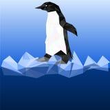 Pingüino en estilo poligonal Fotografía de archivo libre de regalías