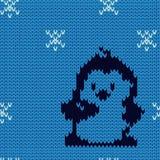 Pingüino en modelo inconsútil del suéter Fotografía de archivo