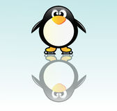 Pingüino en patín libre illustration