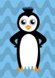Pingüino feliz colorido Foto de archivo libre de regalías