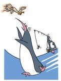 Pingüino hambriento libre illustration