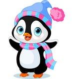 Pingüino lindo del invierno stock de ilustración